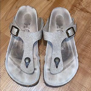 Birkenstock Papillio Gizeh beige sandal size 38